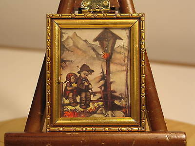Vintage Original Hummel Small Print - Western Germany - Mini Framed 3 x 3.5""