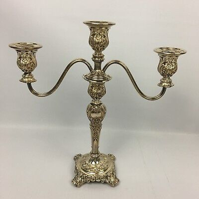 "Vintage Antique Pair Of 12"" VIctorian Silver Plate CANDELABRAS - WM Rogers & Son"