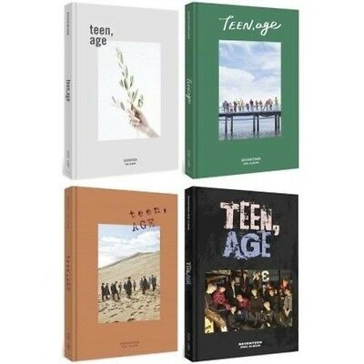 SEVENTEEN 2nd Album TEEN,AGE Orange 1album+Book+S.Poster (ON PACK)+Card+Stand el