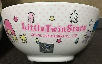 2009 NEW Sanrio LITTLE TWIN STARS with pets theme melamine rice bowl