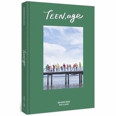 SEVENTEEN 2nd Album TEEN,AGE green 1album+Book+S.Poster (ON PACK)+Card+Stand el