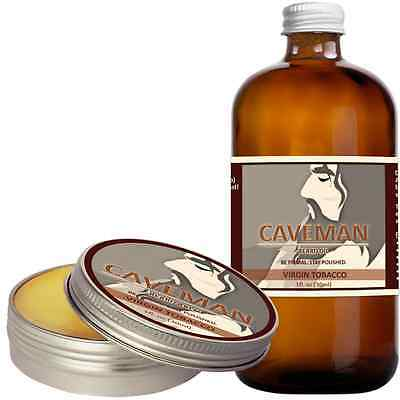 Free Comb High Quality Goods Aftershave & Pre-shave Hand Crafted Caveman® 3 Scents Manly Beard Oil Beard Conditioner Shaving & Hair Removal