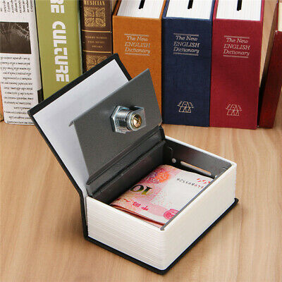 Home Security Mini Dictionary Book Safe Storage Key Lock Box For Cash
