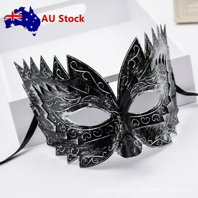 Romans Gladiator Style Silver Men's Up Half Face Mask Masquerade Carnivals Party