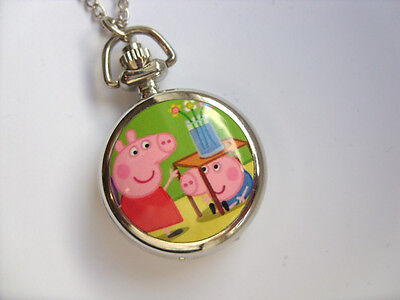 SALE  Great PEPPA PIG Coloured  Necklace Watch  SALE   b