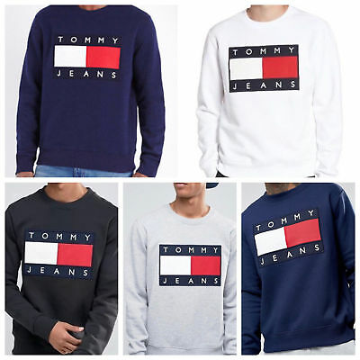 Tommy Hilfiger 90 Jeans Big Flag Sweatshirt Pullover Hoody Pullover S-XXL