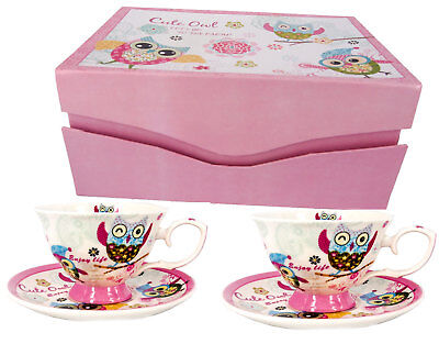 Gift Boxed Tea Cups & Saucers - Set of 2 - FREE POST - OZ Seller