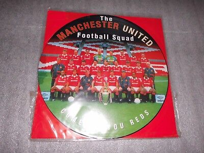 "Manchester United Football Squad 'Come On You Reds'  12""Picture Disc  Single"