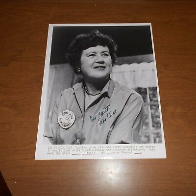Julia Child was an American chef, author Hand Signed Photo