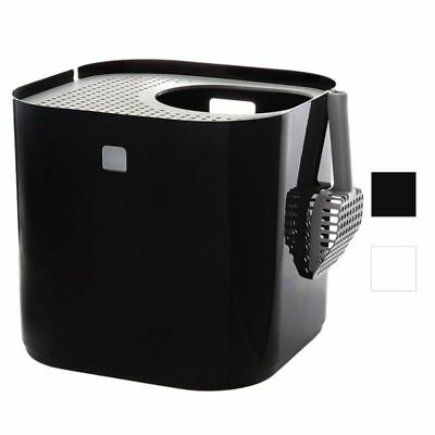 Modko ModKat Cat Litter Box Tray Lid Hooded Toilet Top Entry with Scoop