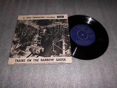 "'Trains On The Narrow Guage' 7"" Vinyl Single Argo Transacord Recording"