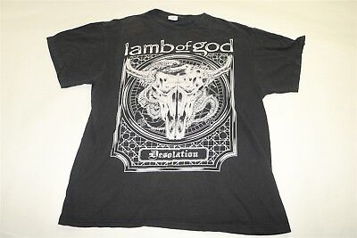 Lamb Of God - Desolation - Black Rock Metal T-Shirt Large