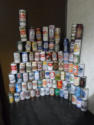 """Qty = [100] 1950`s`-80`s Vintage Beer Can Collection -""""""""multiple Photos""""""""-"""