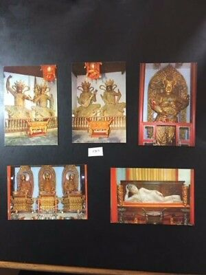 C 215 (5) Postcards size Pictures of Shanghai Jade Buddha Temple mint condition