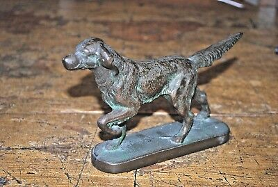 Vintage Bronze Brass Irish Setter Pointer Retriever Dog Door Stop Figurine7 1/2""