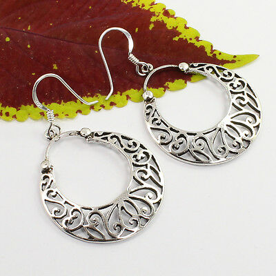 925 Solid Sterling Silver PLAIN No Stones Designer Jewellery Earrings Best Gift