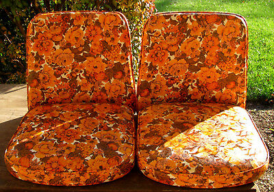 New Vintage Mid-Century Chair Replacement Cushions - Set for a Pair of Chairs