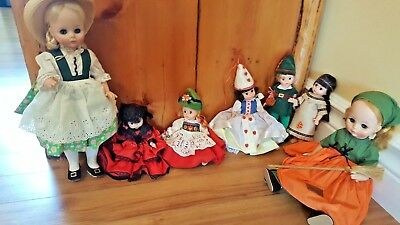 Vintage Lot of  Madame Alexander Dolls  inches 1970s  Collection