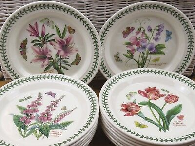 Portmeirion Botanic Garden Dinner Plates New Factory Seconds 10.5""