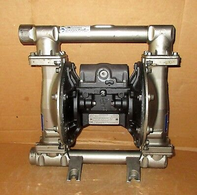"Graco 1050 1"" Air Diaphragm Pump Stainless Steel Body w Teflon Diaphragm Used"