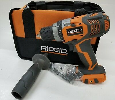 """RIDGID R86008 Cordless 1/2"""" 18V Fuego Drill Driver - NEW - TOOL ONLY & CASE"""