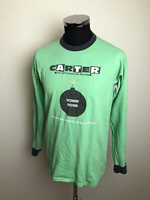 Vintage Band T-Shirt, 90s, Carter USM, Worry Bomb, Green Size : Large