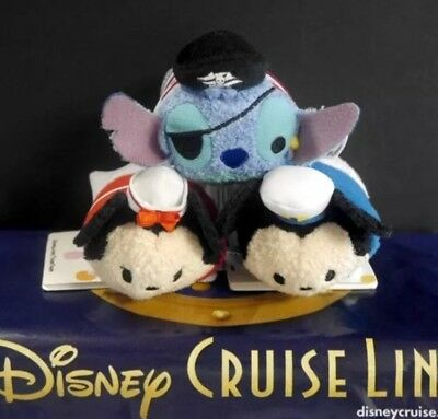 NEW Disney Cruise Line Exclusive Mini Tsum Tsum Set Mickey Minnie Stitch DCL