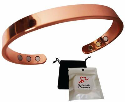 New Pure Copper Magnetic Bracelet Arthritis Therapy Energy For MEN WOMEN + POUCH