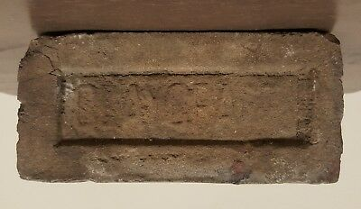 Antique Vintage Claycraft Brown Umber Glaze Rare Building Brick Columbus Oh Ohio