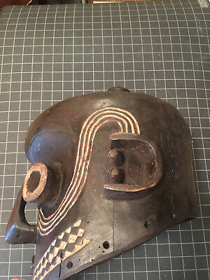 MASSIVE! South Congo Suku Yaka Holo TRIBAL AFRICAN CEREMONIAL HELMET MASK DRC