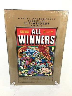 Golden Age All Winners Volume 3 Collects #9-14 Marvel Masterworks HC New Sealed