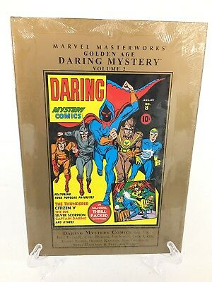 Golden Age Daring Mystery Volume 2 Collects 5-8 Marvel Masterworks HC New Sealed