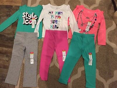 4T girls clothes lot fall / Winter NWT adorable with 2 matching hair bows