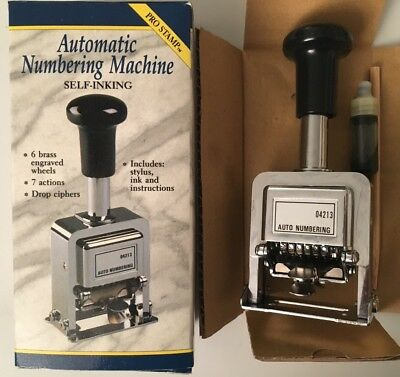 Rogers Automatic Numbering Machine - Self-Inking