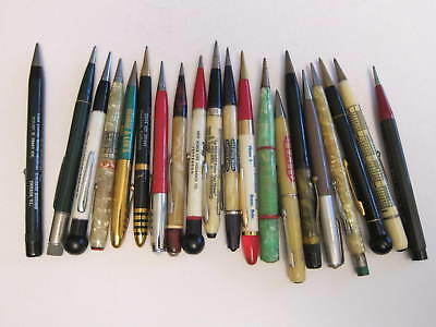 Lot of 20 Vintage Mechanical Pencils *ADVERTISING* 1950's -60's * Calendars etc