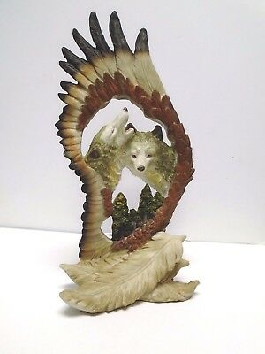"""Wolves  In A Feather  Figurine *10 1/4"""" Tall"""