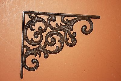 (8) Pcs, Cast Iron, Vintage Look Corbels, Elegant Country Design, Swirl, B-23