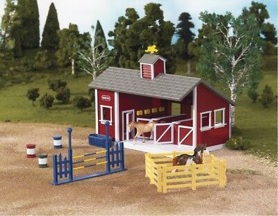 Breyer Stablemates Red Stable With Horses Play Set Model Horses Kids Pretend New