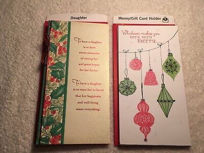 Lot of 8 christmas money holder greeting cards norman rockwell lot of 8 new christmas greeting cards hallmark daughter gift card holders m4hsunfo Choice Image