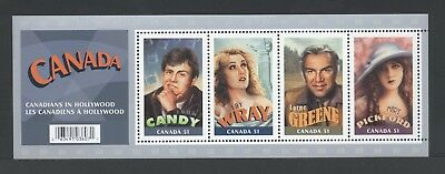Canada Souvenir Sheet Ss 2153 Canadians In Hollywood