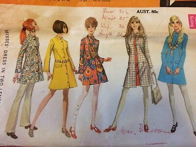 McCall's 60s 70s swing dress jacket vintage pattern sewing 8 pattern 9604 retro