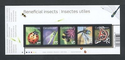 CANADA SOUVENIR SHEET SS 2238a BENEFICIAL INSECTS, LOW VALUE DEFINITIVES