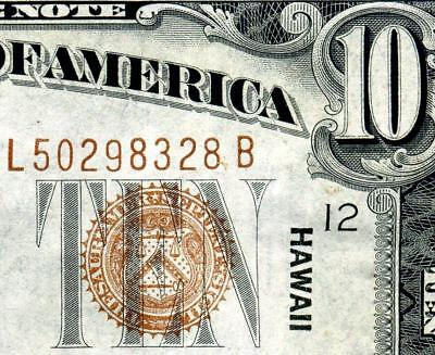 HGR SATURDAY 1934A $10 ((Hawaii)) VERY HIGH GRADE