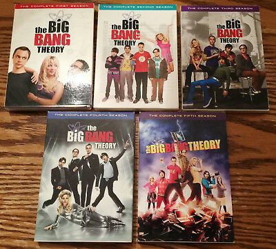 The Big Bang Theory Complete Seasons 1,2,3,4,5 DVDs Like New!