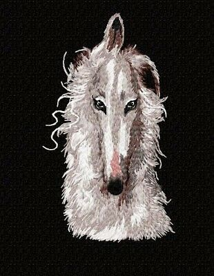 Borzoi Zip Front Hoodie  Jerzees Pink MD  Embroider Head