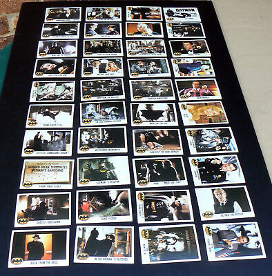 BATMAN cards from 1989 movie 131x Topps Picture Card Series Set missing 1 card