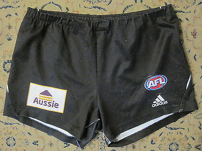 COLLINGWOOD PLAYER WORN AFL APPROVED FOOTBALL SHORTS by ADIDAS 32-34 INCH WAIST
