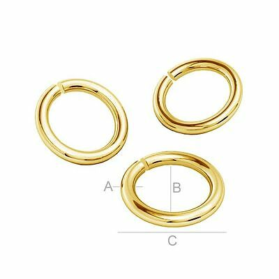 Sterling Silver 925 24k gold plated Jump Rings multibuy FREE DELIVERY many sizes