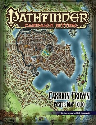 Pathfinder Campaign Settings Carrion Crown Poster Map Folio Trail of Terror - Ne