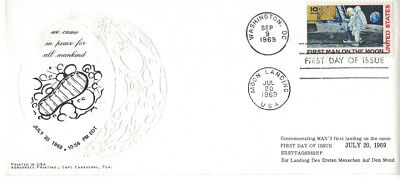 Erstagsbrief/FDC USA First Man ON The Moon- Apollo 11- 20.07.1969